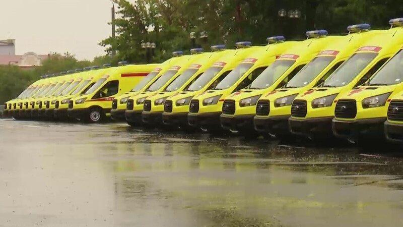 Больницы Оренбуржья  получили 20 новых реанимобилей