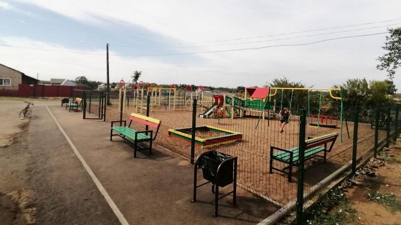 Завершено строительство детских площадок