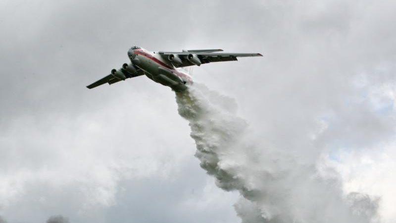 В Ташлинском районе горят 400 гектаров леса: к тушению пожара подключили Ил-76