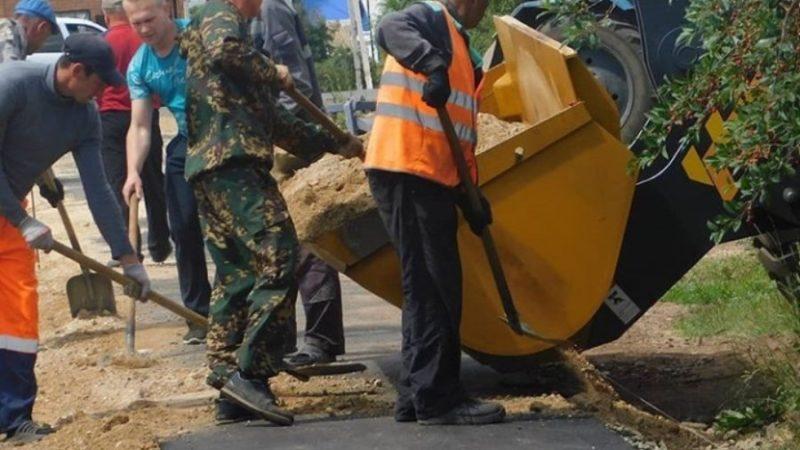 Работы по ремонту участка автодороги завершаются