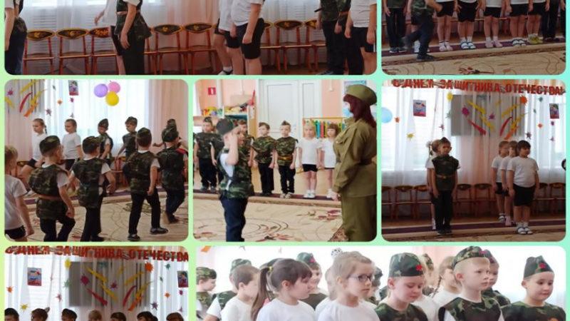 В строю юные танкисты, пограничники, десантники