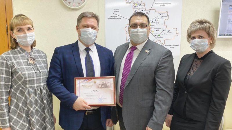 Награду за работу в «красной зоне» получил главврач Сорочинской больницы