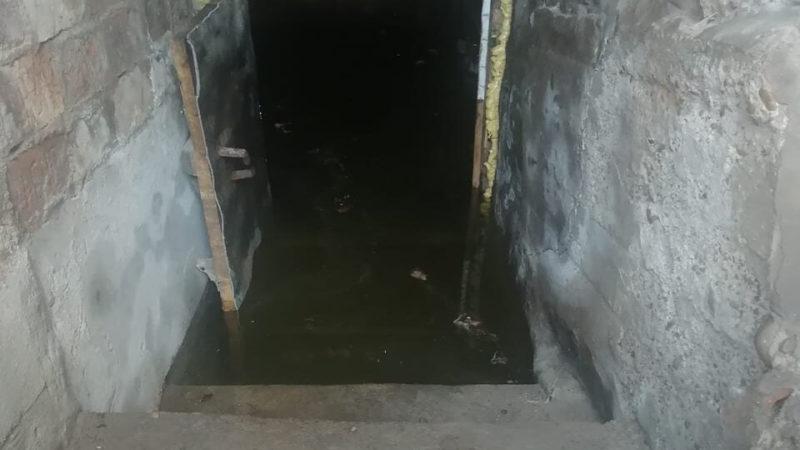 Вода затопила подвалы