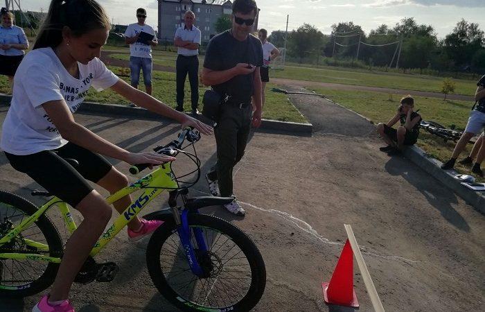 Соревнование юных велосипедистов в Сорочинске