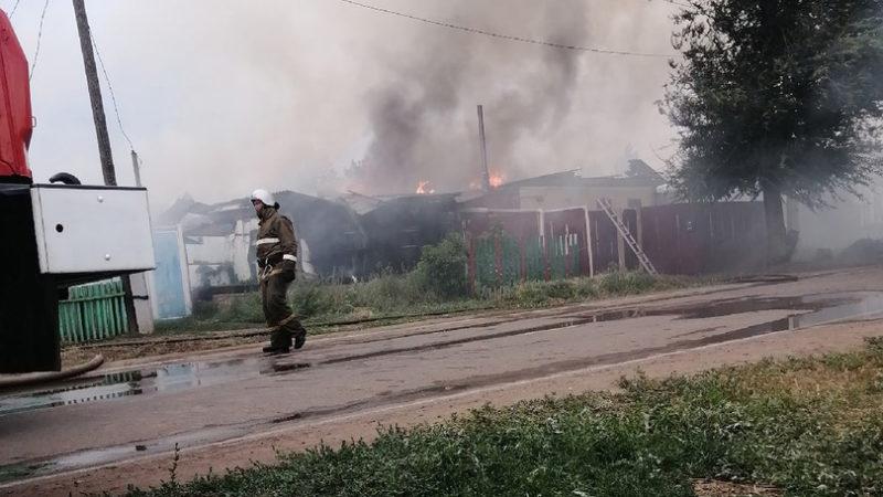 Пожар на улице Льва Толстого
